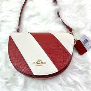 FREE SHIPPING!! Coach Crossbody Bag - Red/White